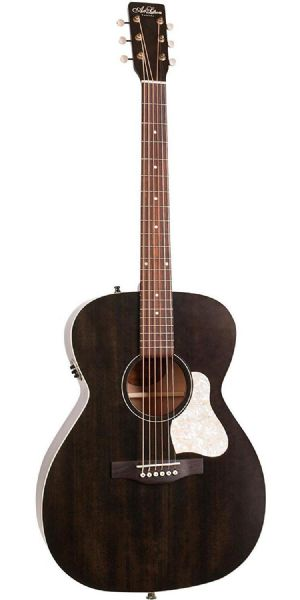 Art & Lutherie Legacy Electro Acoustic Guitar, Faded Black - 42388